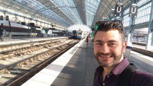 Taking the train to Saint Emilion